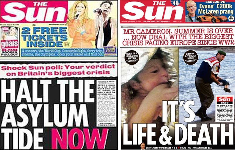 Competing Sun Headlines